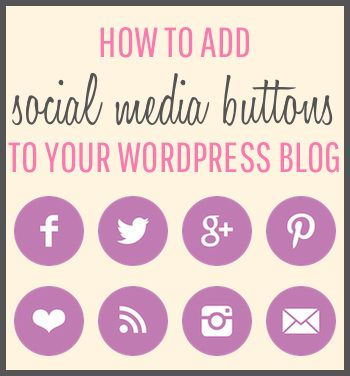 How to Add Social Media Buttons to your WordPress Blog