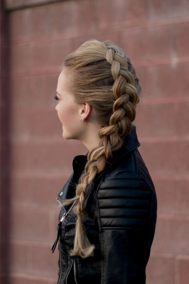 Dutch Mohawk Braid | MissySue.com, shes amazing and should have more subscribers !!! GUYS FOLLOW HER !!!!