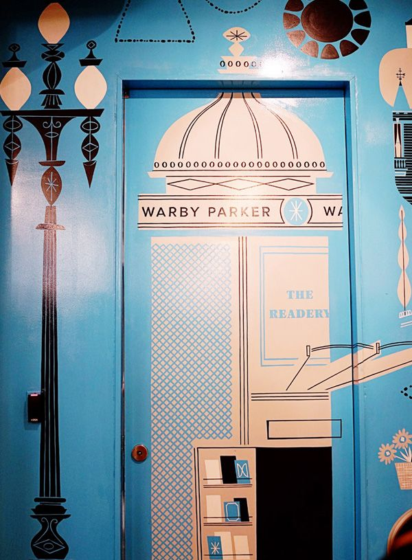 Lab Partners for Warby Parker. Hayes Valley store mural.