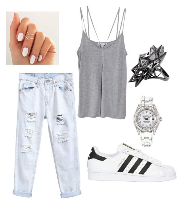 """Untitled #66"" by shylastylez on Polyvore featuring adidas Originals, Rolex, Cami NYC and John Brevard"