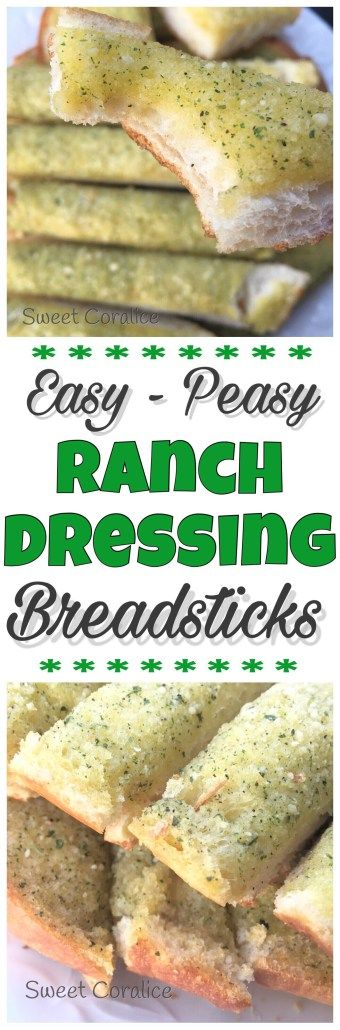 Ranch Dressing Breadsticks - Deliciously Easy and packed with flavor! They're perfectly balanced with a tangy Ranch Dressing flavor that just melts and bakes in with the butter. Plus, they're ready in under 20 minutes. Pair them up with your favorite pasta dish and side salad for dinner tonight!
