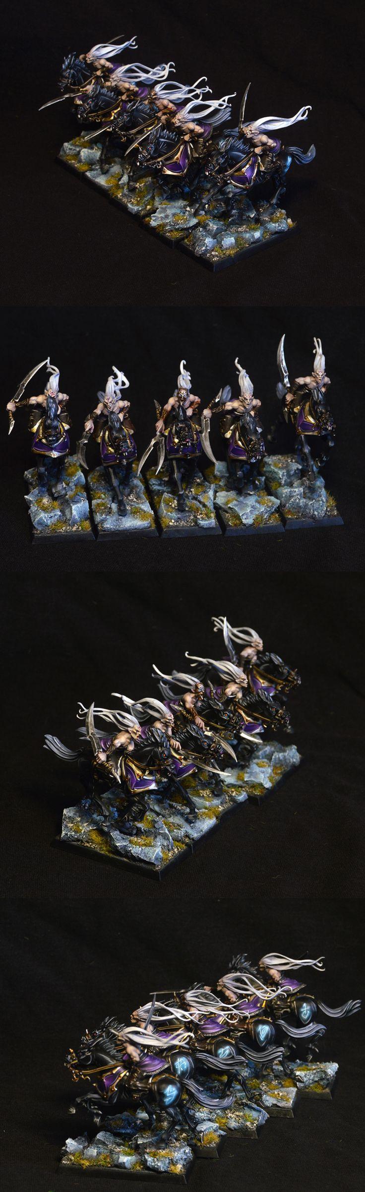 CoolMiniOrNot - Dark Elves Doomfire Warlocks by kommissar Manul