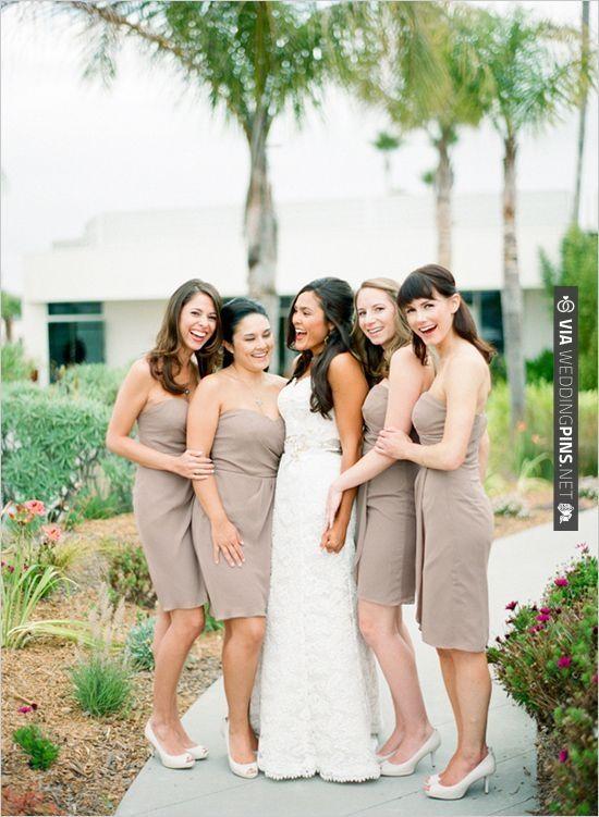 mocha bridesmaid dresses | CHECK OUT MORE IDEAS AT WEDDINGPINS.NET | #bridesmaids
