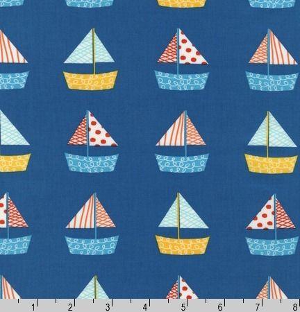 Designerstoff USA Robert Kaufmann *Segelboot* von Materialbox auf DaWanda.com