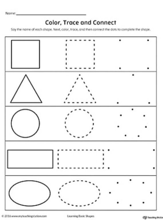 Pin by Andrea Havlová on Preschool Worksheets, Shapes worksheets