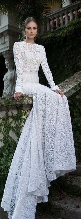 full lace bridal gown #wedding #love #lace #gown #bridal