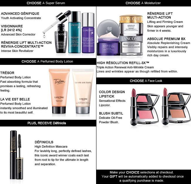Build up your new Lancome gift at Macys. more info: http://cliniquebonus.org/lancome-gift-with-purchase/