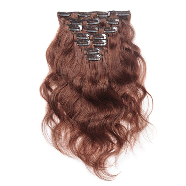 208 best clip in human hair extensions images on pinterest hair 10pcs body wavy clip in remy hair extensions 33 rich copper red pmusecretfo Images