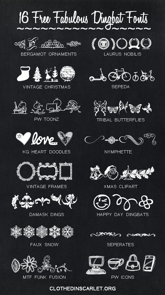 shoes online stores canada Dingbat fonts are just so cool  Here are 16 free fabulous dingbat fonts to make your images sizzle