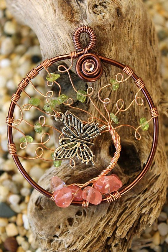 Tree of Life  Wiindswept tree with Butterfly by GelArt on Etsy, $20.00
