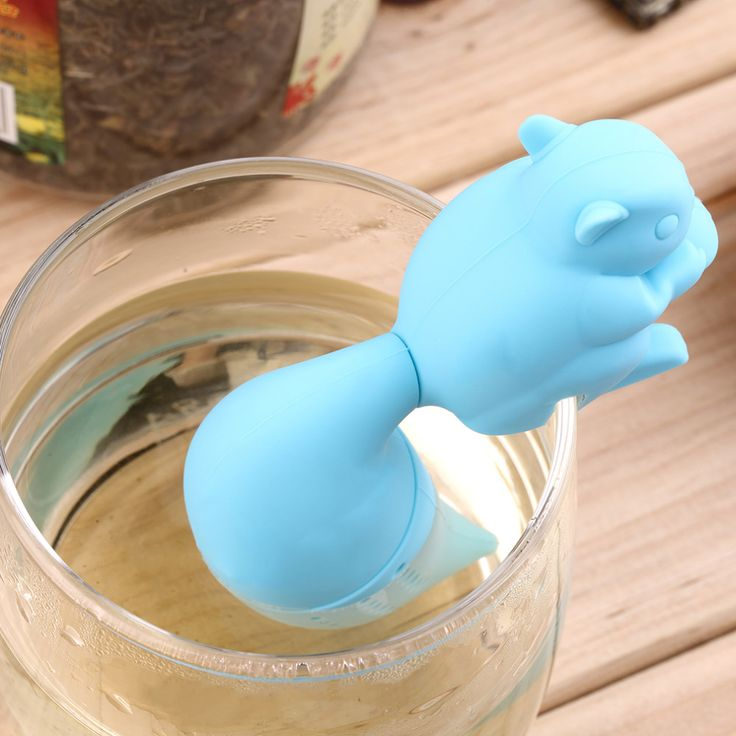 Silicone Squirrel Tea Infuser #kitchen #home http://kgspot.com/index.php/product/silicone-squirrel-tea-infuser/