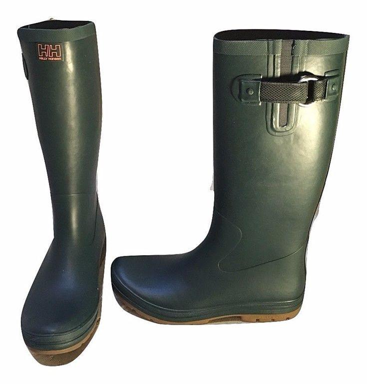Womens Helly Hansen Size 9.5 Boots W Veierland 2 Mesh Stormy Green 10992 $85.00 #HellyHansen #Rainboots