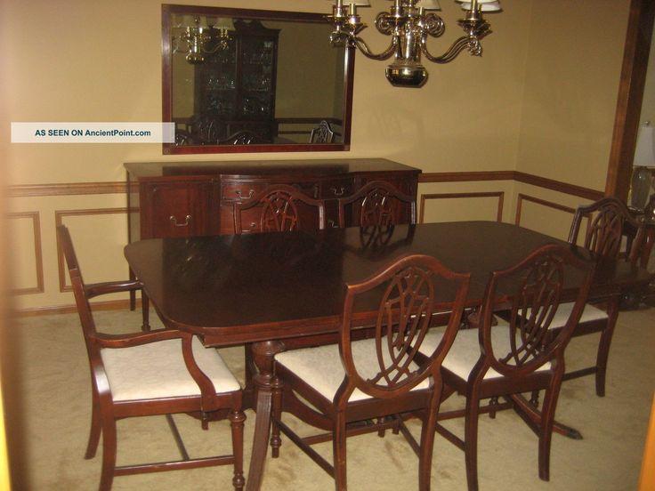 1930 39 s duncan phyfe 11 piece mahogany dining room set for Mahogany dining room chairs