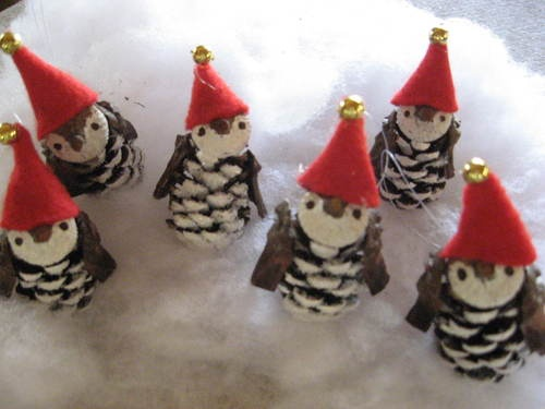 Genuine Alabama Pincones and Acorns caps are now beautiful Penguin Christmas Ornaments.