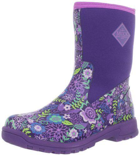 MuckBoots Women&39s Breezy Mid Prints BootPurple/Purple Flower11 M