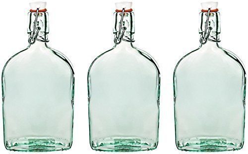 Amici Flask Bottle with Hermetic Top - Set of 3 Amici Home