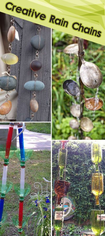 Creative Rain Chains • Tutorials and ideas for adding a creative spin to your backyard and garden!