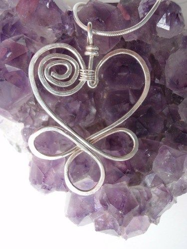 Celtic Knot Pendant Wire Wrapped Sterling Silver Celtic Necklace