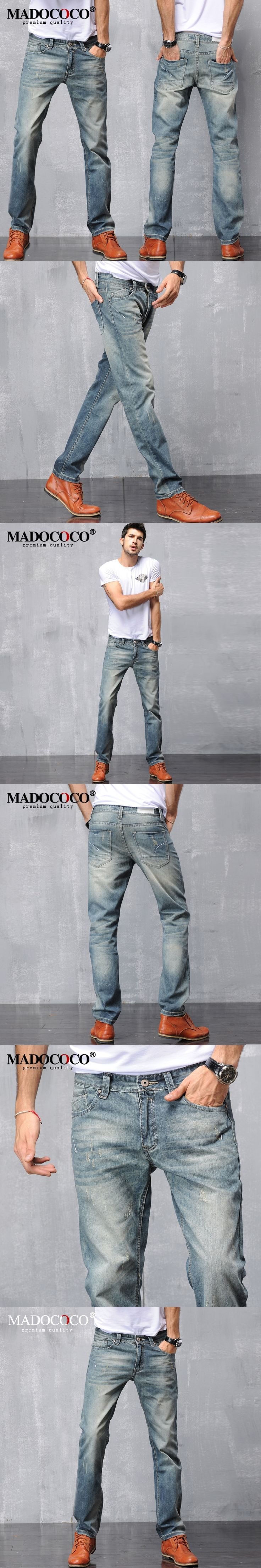 2017 Brand New Cotton Retro Mens Robin Jeans High Quality Light Blue Designer Vintage Jeans Man Wild Straight Loose Jeans Biker
