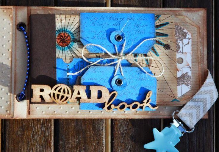 Scrap à la Carte: Zoom sur les embellissements bois : Mini Road Book par Natalia