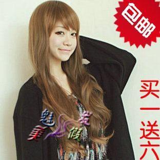 Длинные вьющиеся волосы , парик не связанные с основной школьница очаровательная белый воротник сладкий