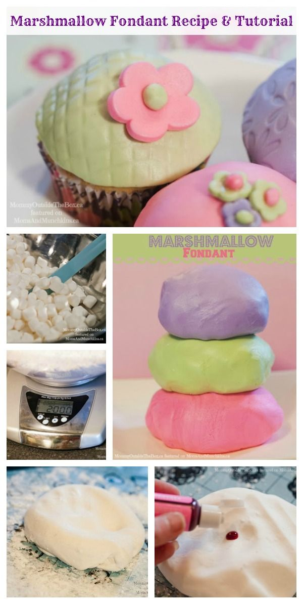 Marshmallow Fondant #Recipe and Tutorial by MommyOutsideTheBox.ca featured on MomsAndMunchkins.ca