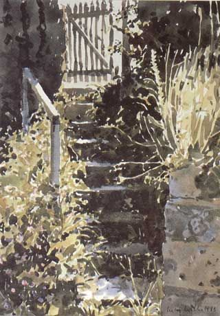 Lucy Willis - Gate at the top of the steps