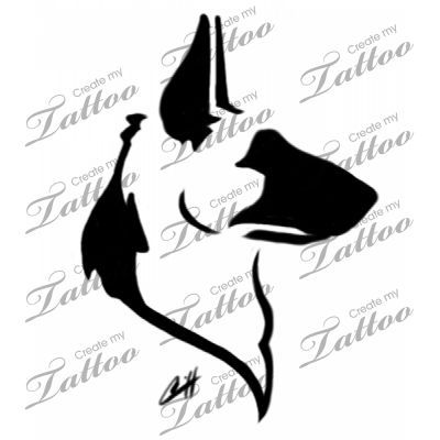german shepherd dog tattoo | Head only #23949 | CreateMyTattoo.com