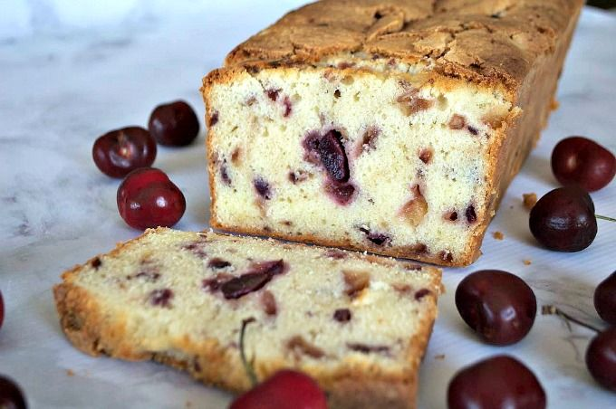 Cherry Pound Cake Recipe Desserts, Afternoon Tea with unsalted butter, sugar, eggs, cake flour, salt, pure vanilla extract, cherries