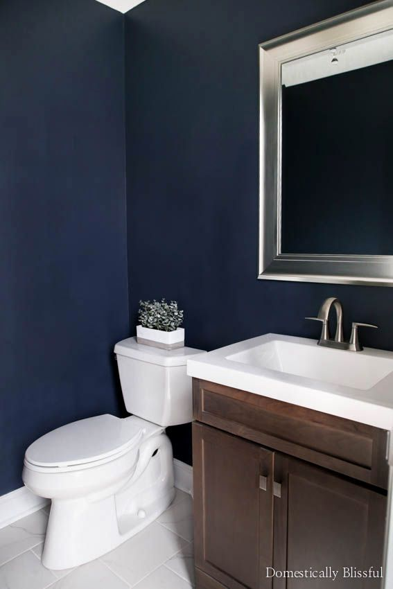 A Half Bathroom Remodel On A Budget With Before After Pictures Featuring Dark Walls Mo Guest Bathroom Remodel Half Bathroom Remodel Bathroom Remodel Cost
