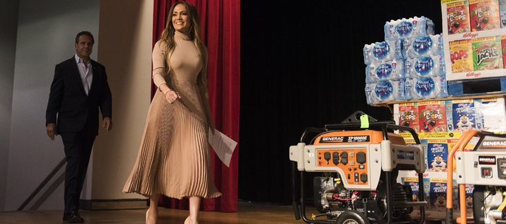 Jennifer Lopez joined forces with Cuomo to announce a New York-wide effort to give aid to Puerto Rico following damage from Hurricane Maria.