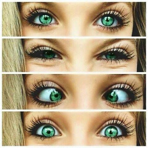 Her eyes :O its incredible....!
