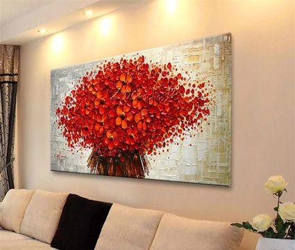 Sorpréndete con estos preciosos cuadros de flores modernos y románticos a la vez, perfectos para decorar tu sala o tu dormitorio