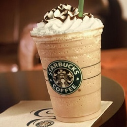 Starbucks Secret Menu:  Cake Batter Frappuccino  This is a vanilla frappuccino with almond flavoring added. If your local chain doesn't carry almond syrup, try it with hazelnut syrup instead.
