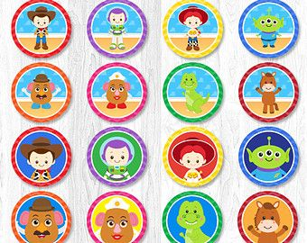 Toy Story Cupcake Toppers, Toy Story  Cupcake Wrappers, Spiderman Cupcake Topper