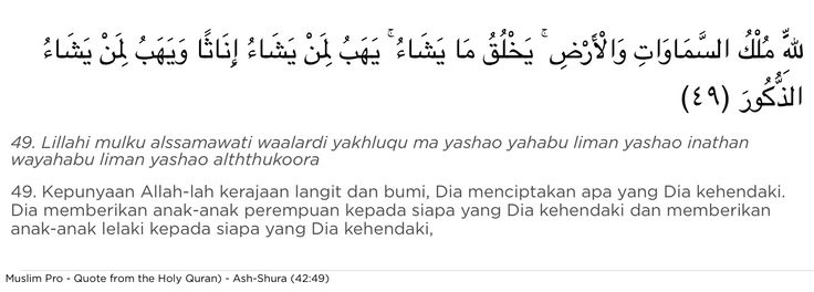Quote from the Holy Quran, Ash-Shura (42:49) #muslimpro http://www.muslimpro.com