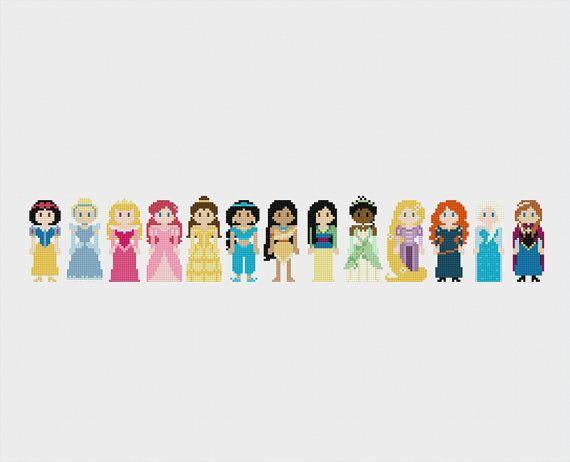 Disney Princess Once Upon A Time Cross Stitch by pixelsinstitches