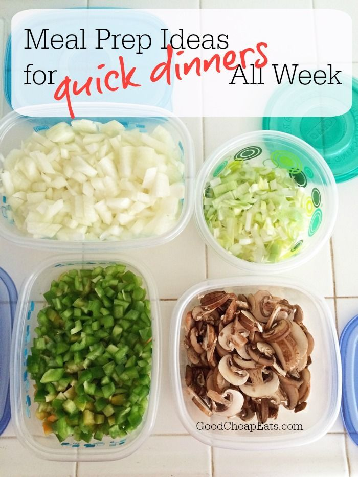 Meal Prep Ideas for Quick Dinners All Week | Good Cheap Eats - Make dinner quick and easy all week. Check out these meal prep ideas to help you do pull it off without breaking a sweat. #mealplan #mealprep #mealplanning