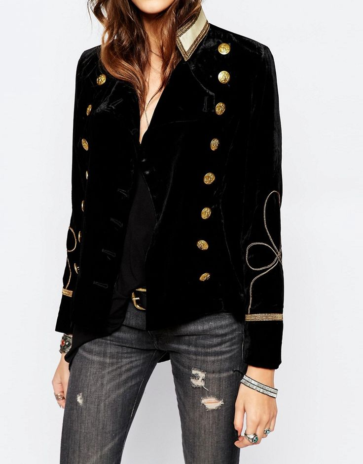 Image 3 ofDenim & Supply By Ralph Lauren Velvet Military Jacket