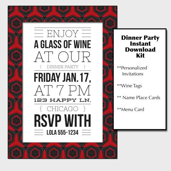 11 best Chocolate themed event images on Pinterest Treats - free printable dinner party invitations