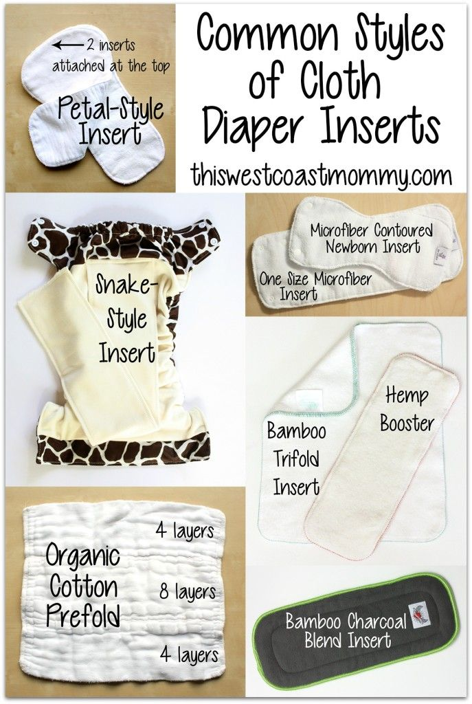 You can save thousands of dollars with cloth diapering, but it's not always easy to know which cloth diaper inserts, doublers, or liners should I choose? Here are the comment types showed in a super simple way. Common styles of cloth diaper inserts.