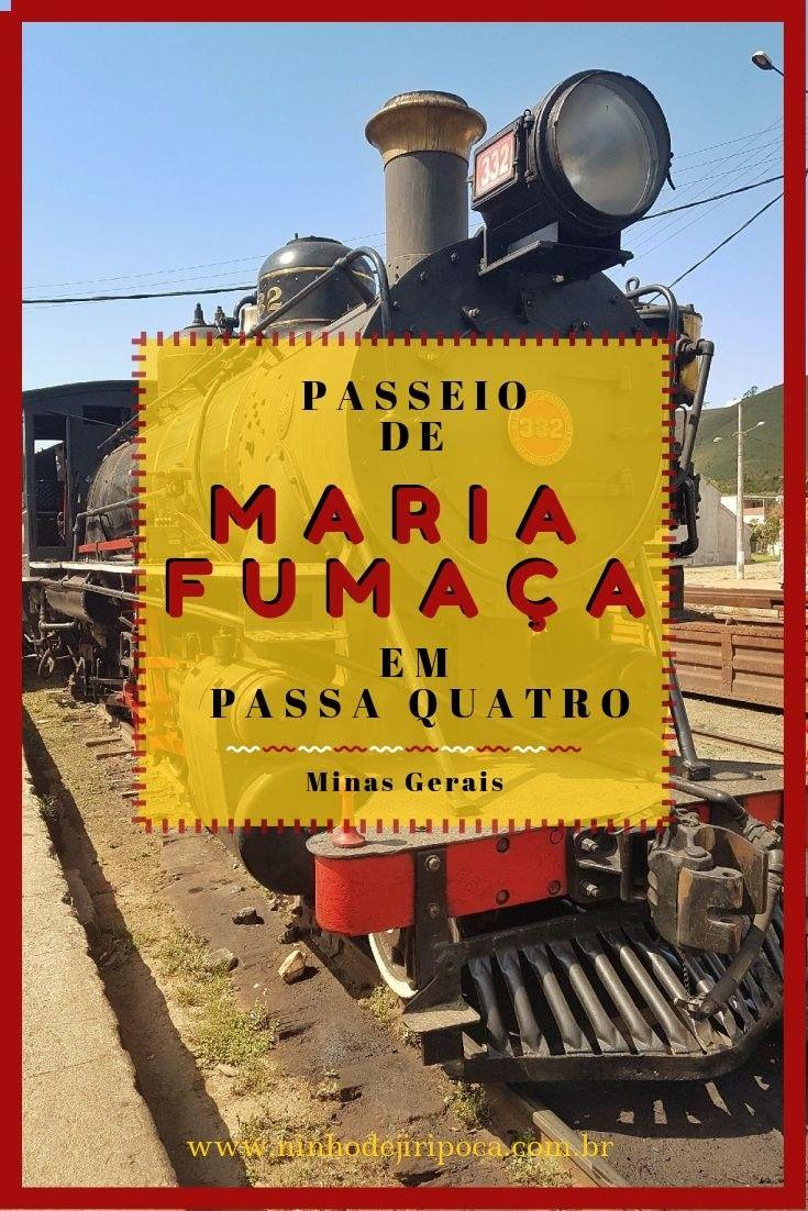 Passeio de Trem Maria Fumaça em Passa Quatro, Minas Gerais, com crianças