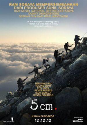 5 cm adalah film drama Indonesia yang dirilis pada 12 Desember 2012. Film ini disutradarai Rizal Mantovani. Film ini dibintangi oleh Herjunot Ali dan Fedi Nuril. Film ini merupakan film yang diadaptasi dari sebuah novel dengan judul yang sama.