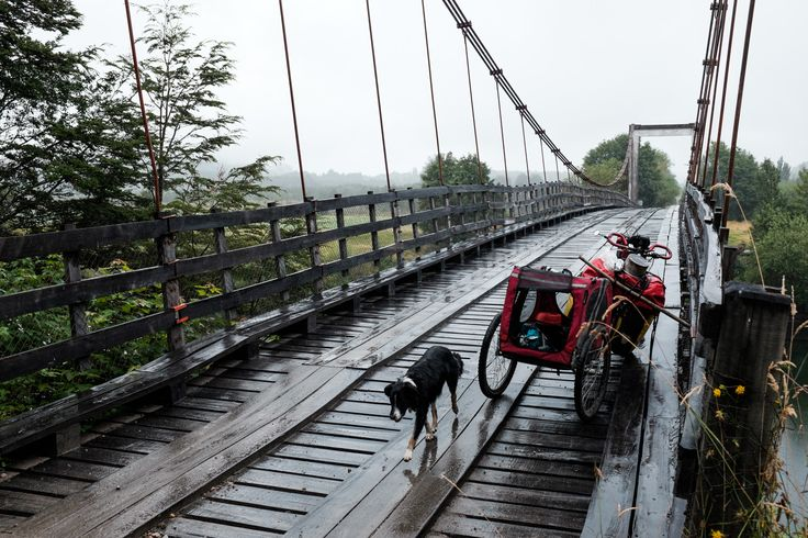 Carretera Austral - Crossing the wooden bridge. #Chile #cycletouring #travel #adventure