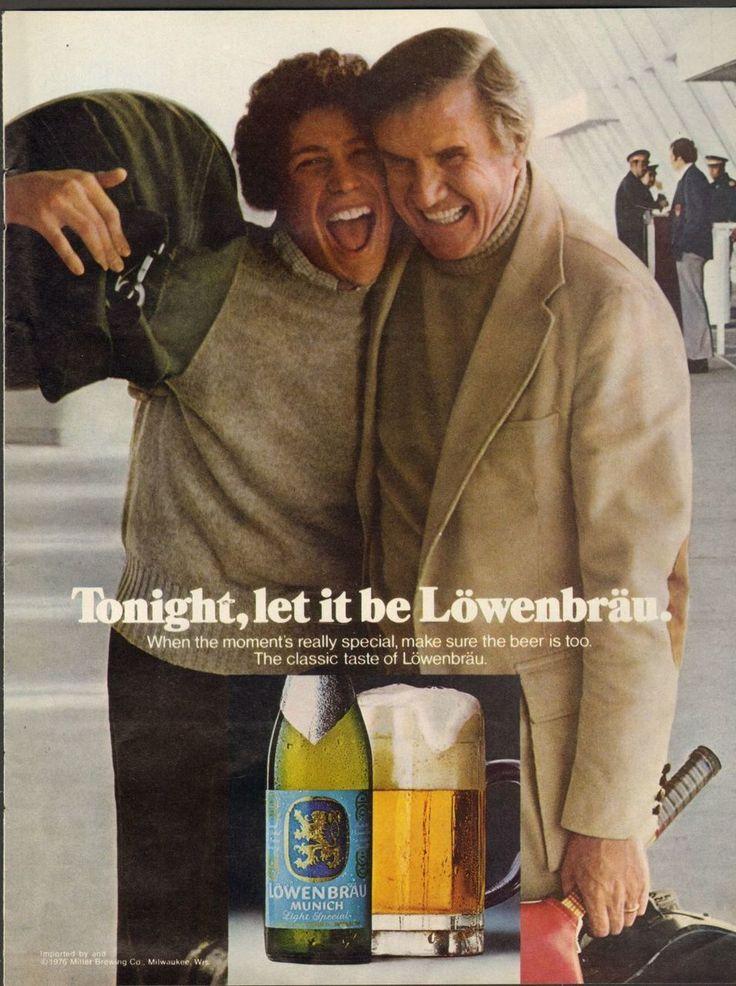 1976 Print Advertisement Ad Lowenbrau Beer Tonight let be - Advintage Plus