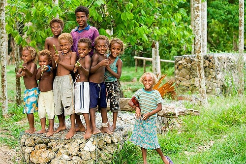happy smiles! beautiful children of the South Pacific Islands