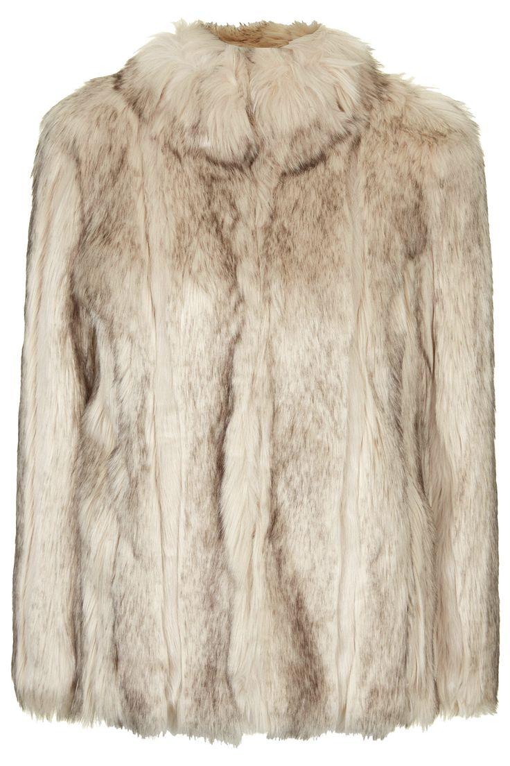 Manteau épais en fourrure synthétique top shop 115E