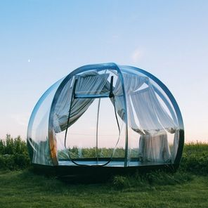 Lithuanian designer Vytautas Puzeras has created a beautiful transparent dome designed to let the great outdoors in
