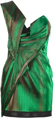 ShopStyle: Anthony Vaccarello one shoulder mini dress