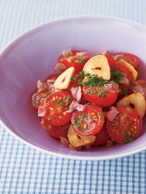 【ELLE a table】ミニトマトのガーリックオイル和えレシピ|エル・オンライン